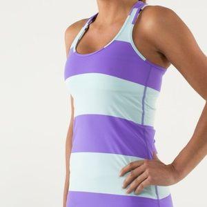 Lululemon Cool Racerback Bold Stripe Power Purple